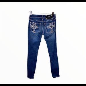 Miss Me Cross Pocket Jeans Jeggings JP5045GL